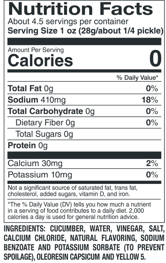 412 Large Hot Nutrition Facts Ingredients