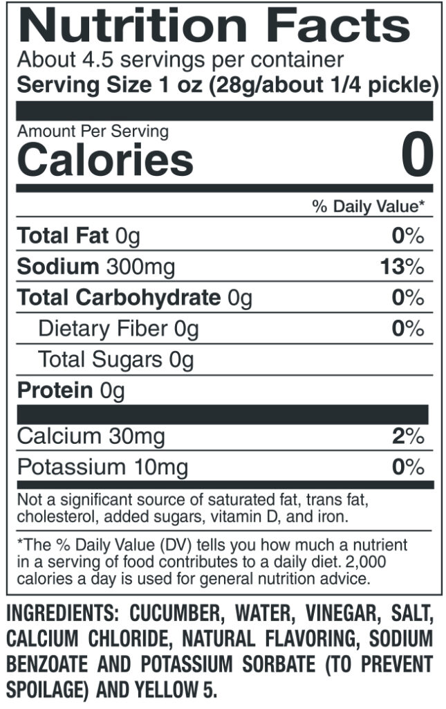 412 Sour Nutrition Facts Ingredients