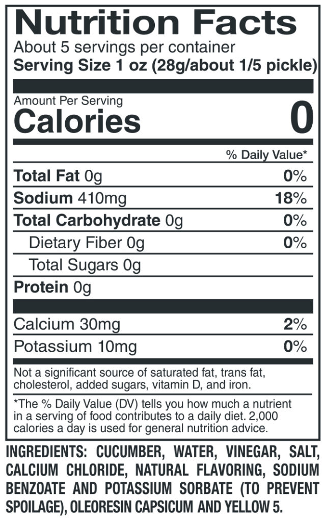 612 Jumbo Hot Nutrition Facts Ingredients