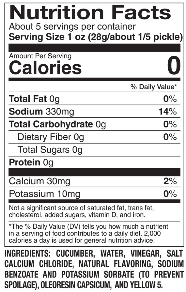 612 Tapatio Nutrition Facts Ingredients