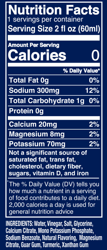 Pickle Ice 2oz Pouch Nutrition Facts Ingredients